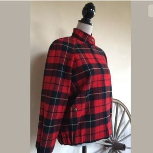 Pendleton Jackets & Coats - PENDLETON Vtg Tartan Plaid Wool Bomber Jacket USA